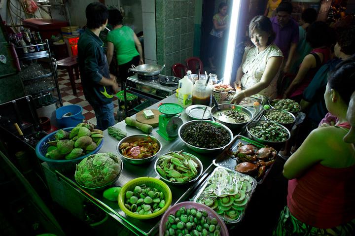 Pan-Fried Seafood Stall