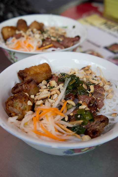 Grilled Meat and Spring Roll with Vermicelli