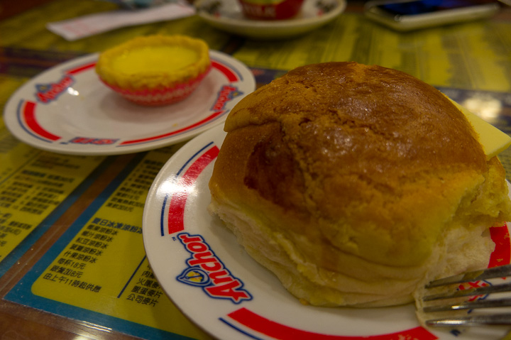 baked polo bun with butter