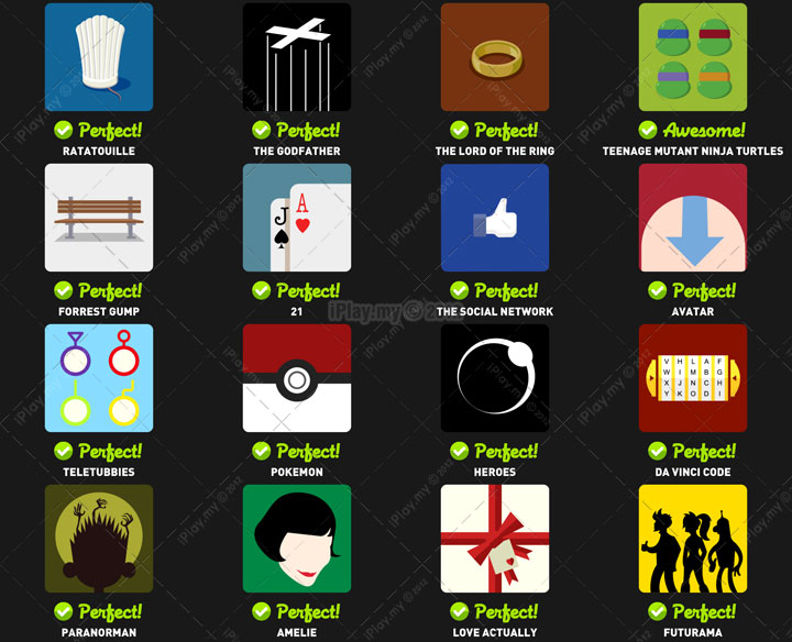 Icon Pop Quiz TV and Film Level 4
