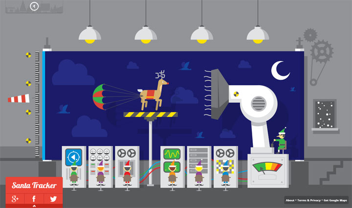 Google Santa Tracker Wind Tunnel