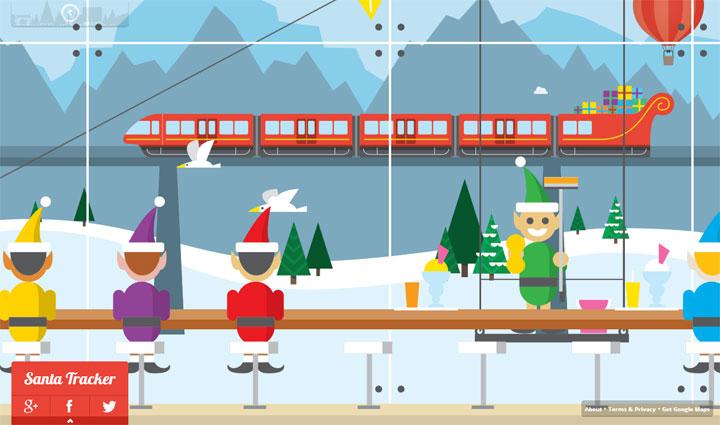 Google Santa Tracker Cafeteria
