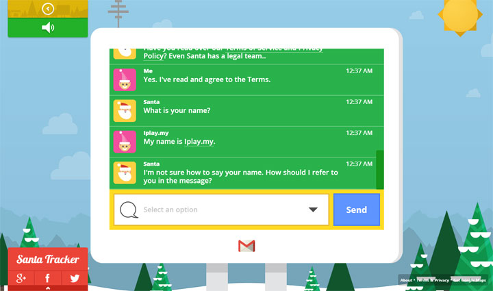 Google Santa Tracker Santa Call