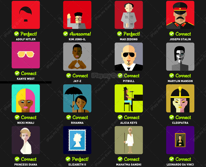 Icon pop quiz answer famous people level 2