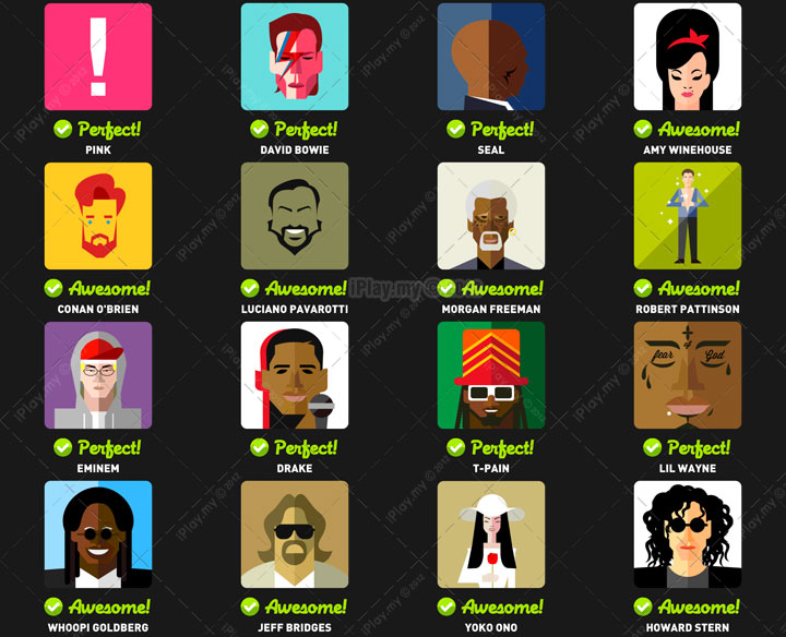 Icon Pop Quiz Answers Famous People Level 3