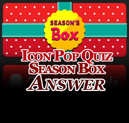 Icon pop quiz answer holiday season cover