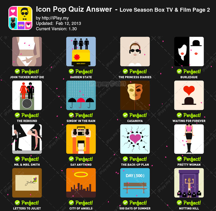 Icon Pop Quiz Answer Love Season Page 2
