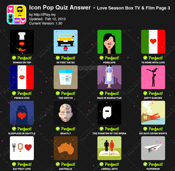 Icon Pop Quiz Answer Love Season Page 3