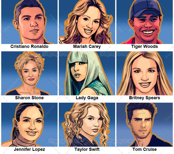 General Mix of Celebrity Trivia - Play a Trivia Quiz