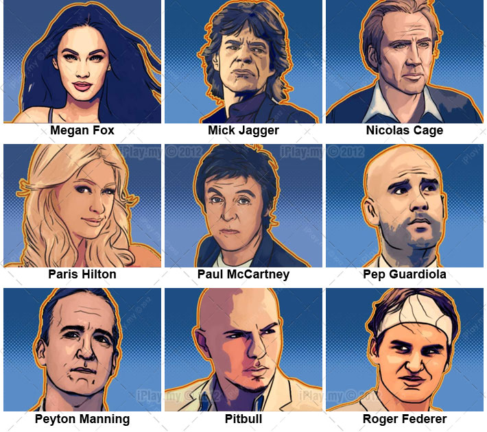 Guess the celebrity icon quiz cheats