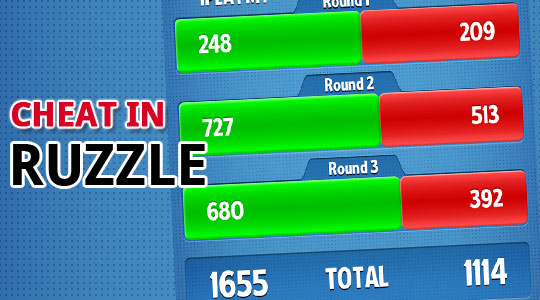How I cheat in Ruzzle Cover