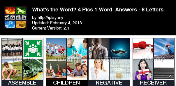 4 Pics 1 Words Answers 8 letters