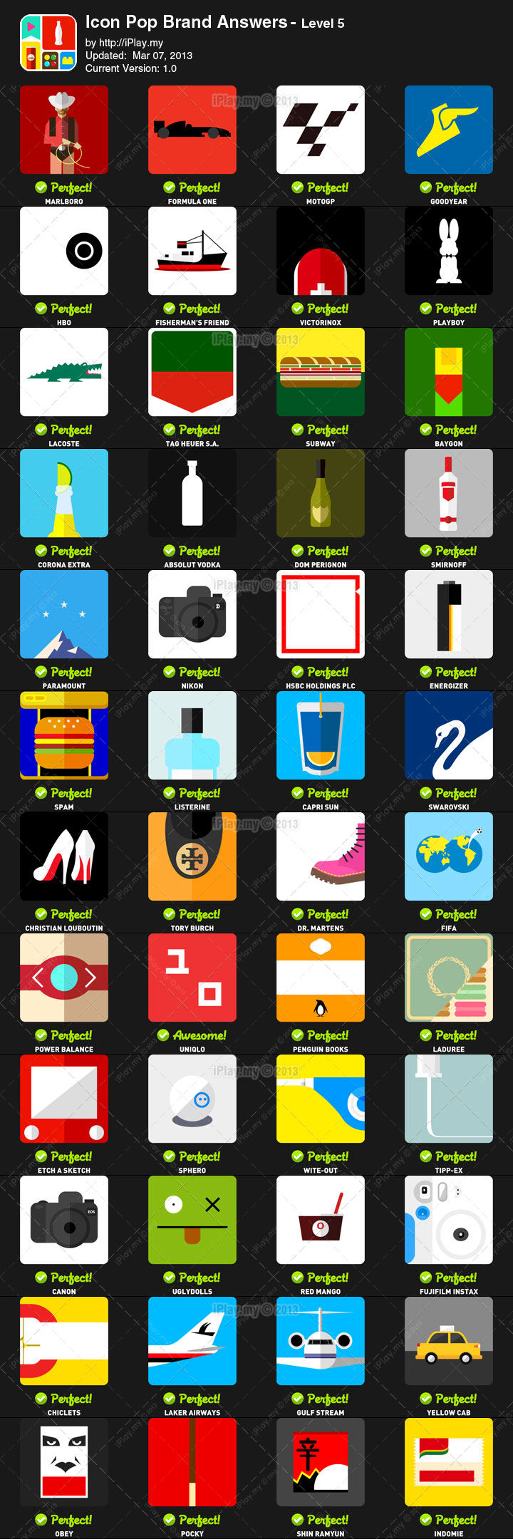 Icon Pop Brand Answers with Pictures Level 5