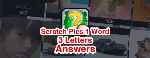 Scratch Pics 1 Word Answers - 3 Letters Cover