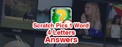 Scratch Pics 1 Word Answers - 4 Letters Cover