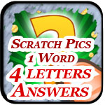 Scratch Pics 1 Word Answers - 4 Letters Page Featured