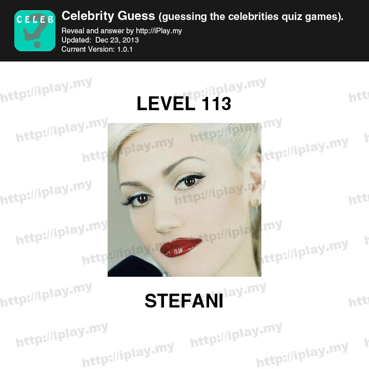 Celebrity Guess Level 113