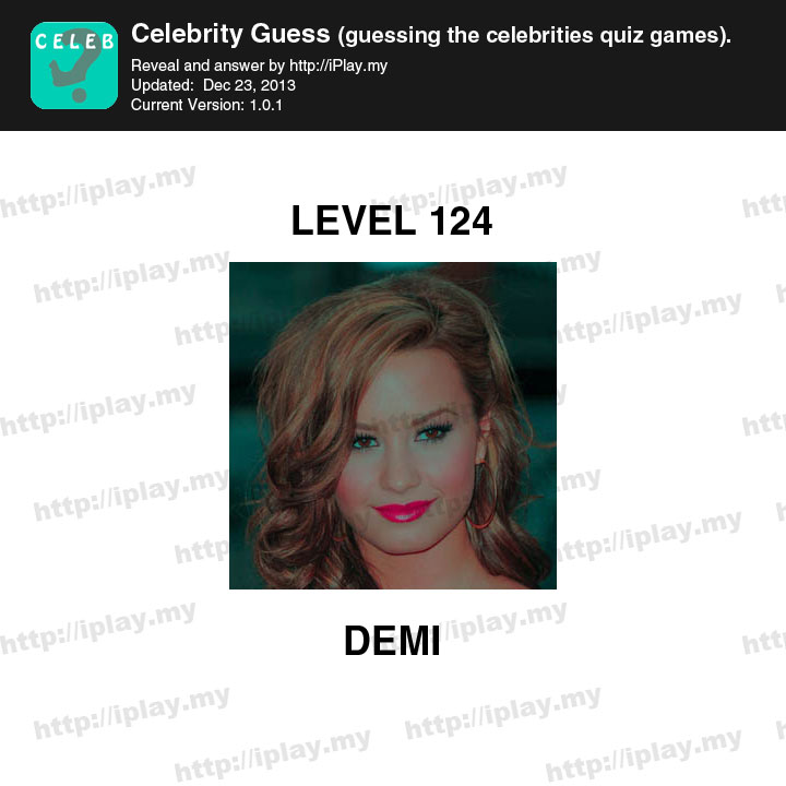 Celebrity Guess Level 124