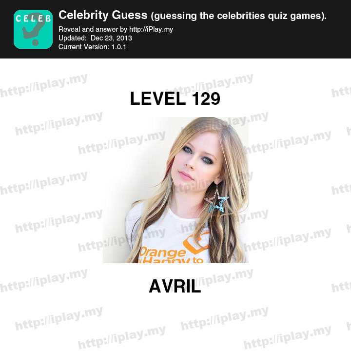 Celebrity Guess Level 129