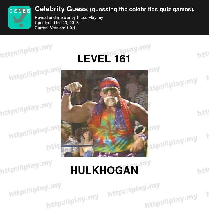 Celebrity Guess Level 161