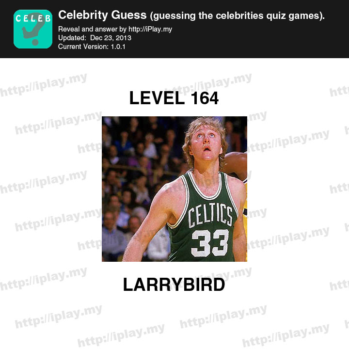 Celebrity Guess Level 164