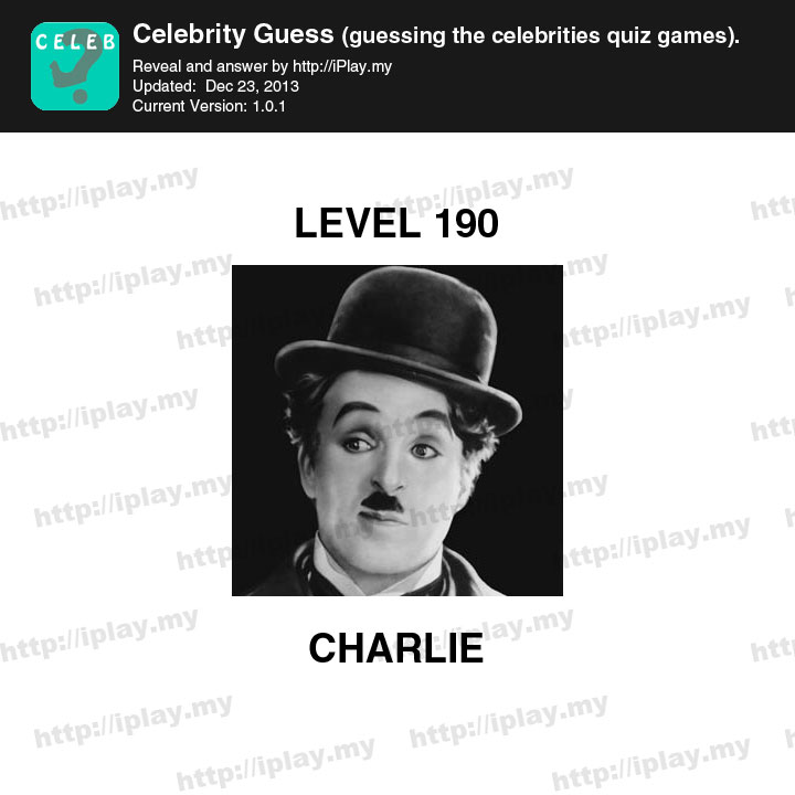 Celebrity Guess Level 190