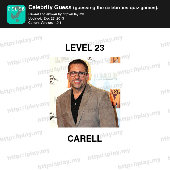 Celebrity Guess Level 23 - Game Solver