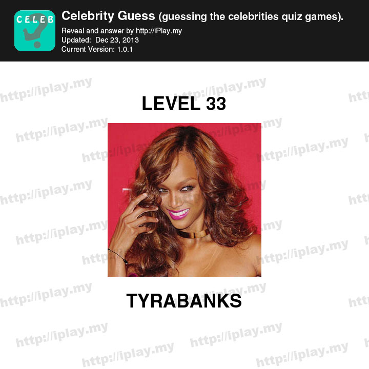 Celebrity Guess Level 33 - Answers King
