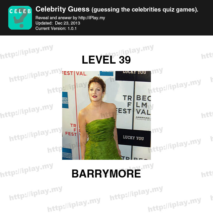 Celebrity Guess Level 39