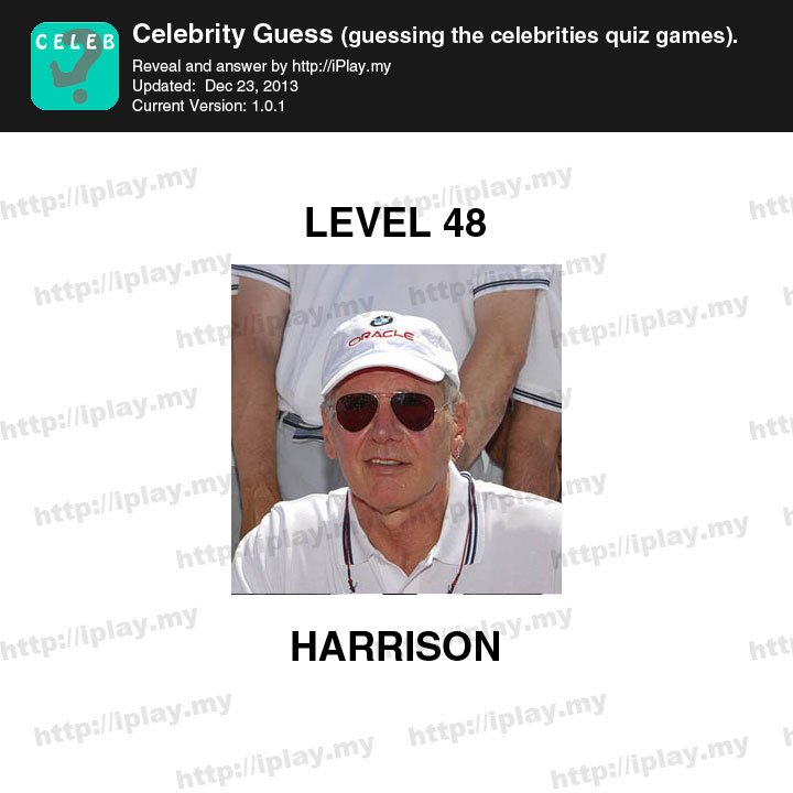 Celebrity Guess Level 48 - Game Solver