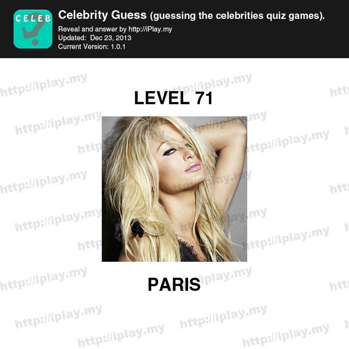 Celebrity guess level 16 answers