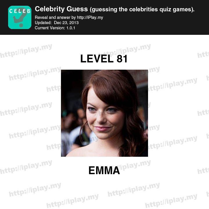 Celebrity Guess Level 36 - AnswersKey