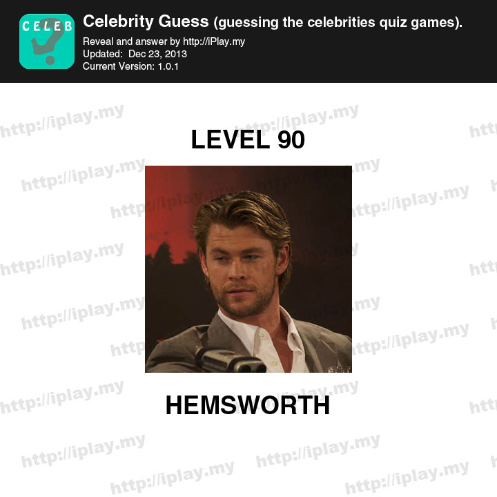 Who's The Celebrity? Level 81-90 Answers - YouTube
