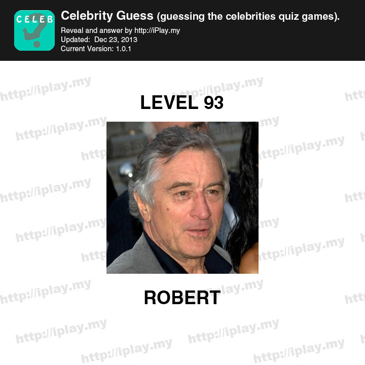 Celebrity Guess Level 93 - Answers King
