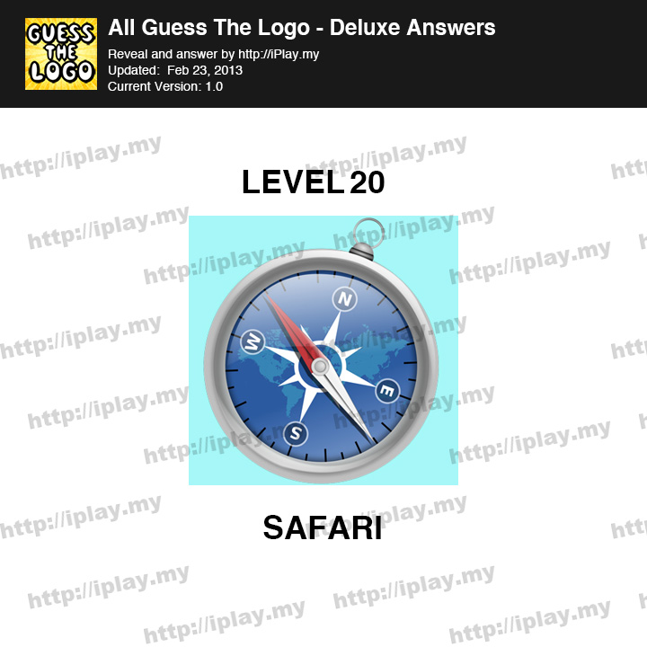 Logo Guess Answers Level 20 All Guess The Logo Level 20 Jpg
