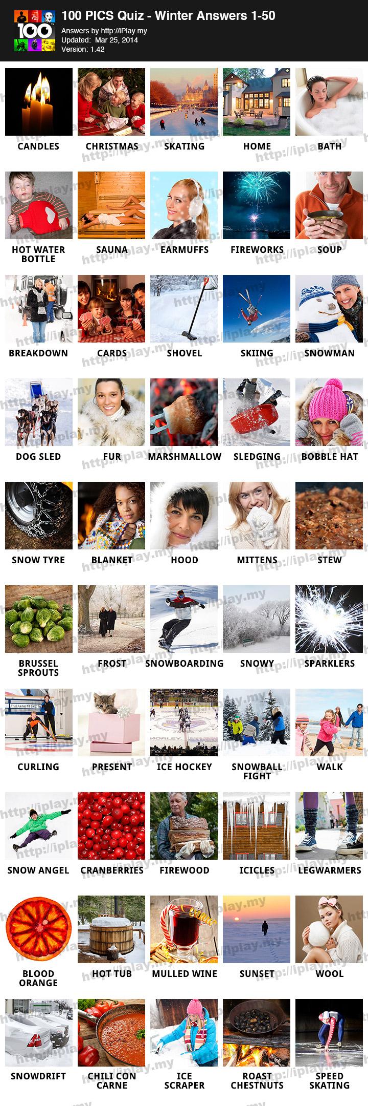 100 PICS Quiz – Winter Pack Answers | iPlay.my
