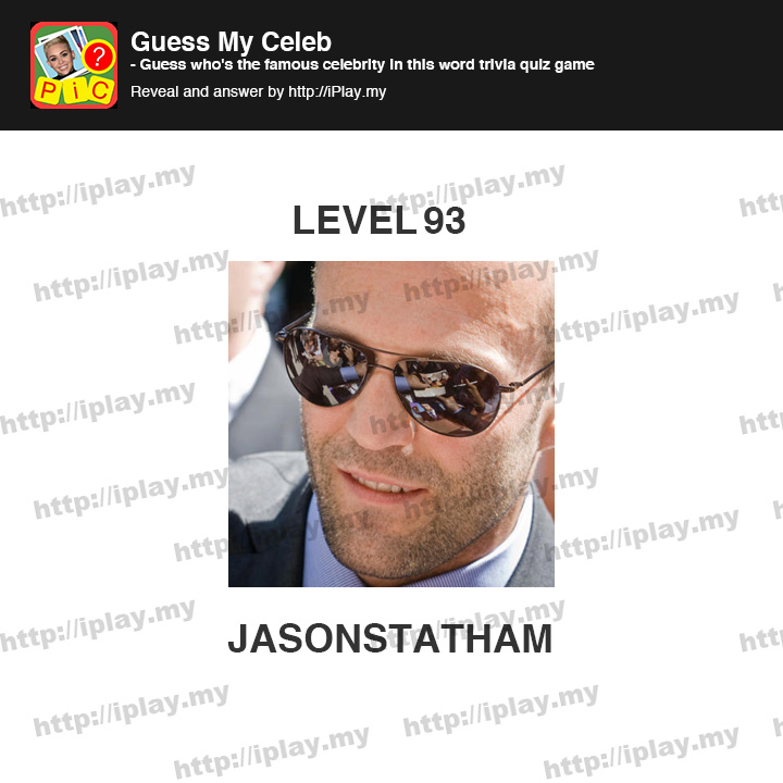 Celebrity Guess Level 93 - AnswersKey