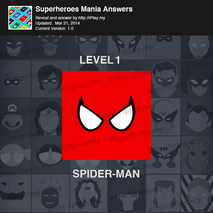Superheroes Mania Level 1