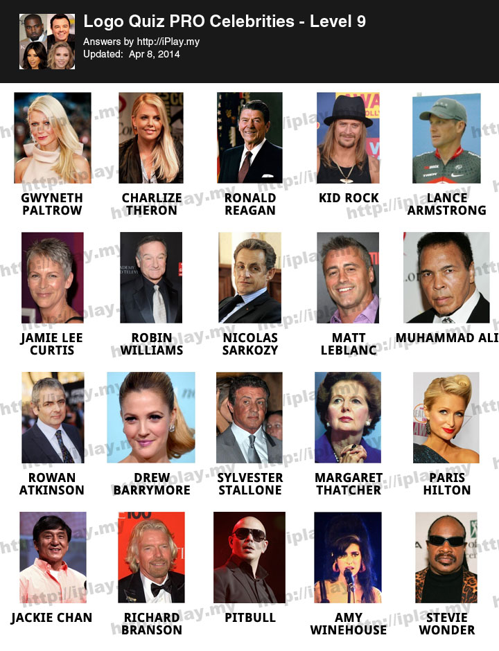 Celebrity Quiz Level 47 - Funscrape