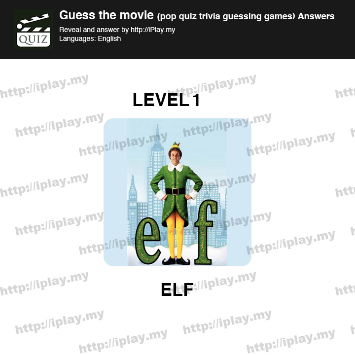 Guess the movie pop quiz Level 1