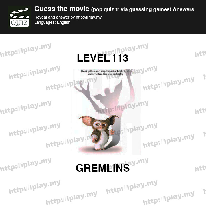 Guess The Movie Pop Quiz Answers Iplaymy