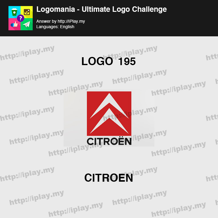 Logomania - Ultimate Logo Challenge Level 195