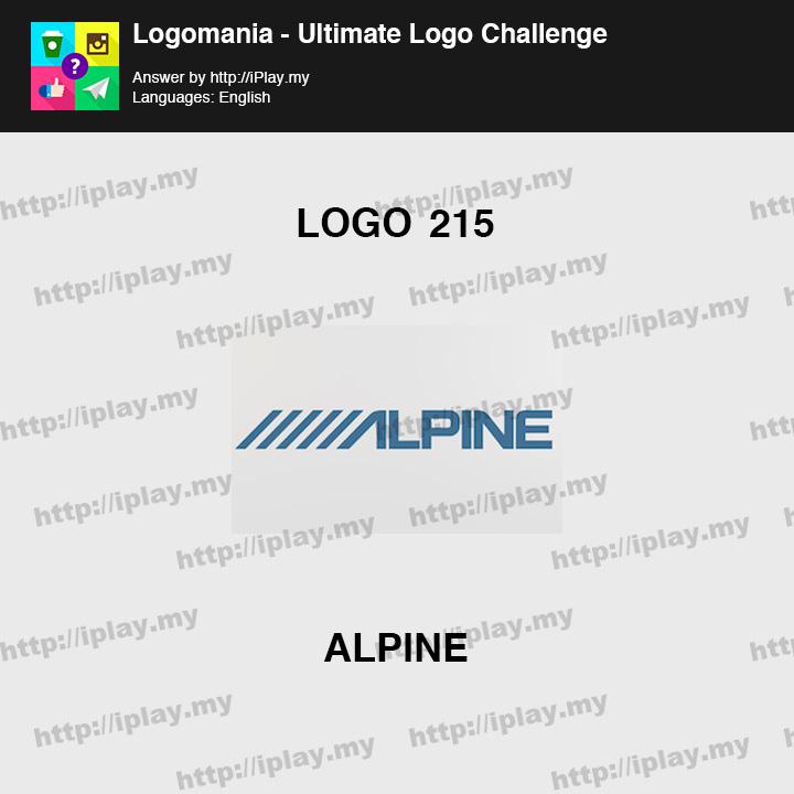 Logomania - Ultimate Logo Challenge Level 215